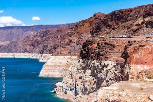 Fotografia, Obraz  Receding Water Level at Lake Mead