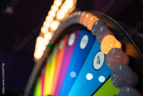 Photographie  Arcade gambling machine up close