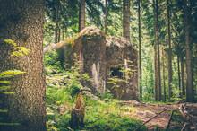 Abandoned Bunker Hidden In The Forest In Czech Republic