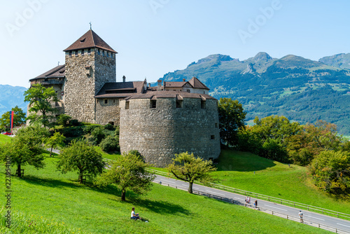 Beautiful Architecture at Vaduz Castle, the official residence of the Prince of Liechtenstein