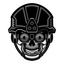 Tactical Skull Head Military Vector Illustration