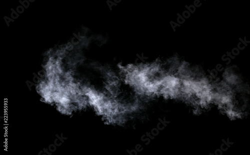 Photo  Abstract steam on a black background.