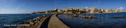Photo panorama of the city of Anzio