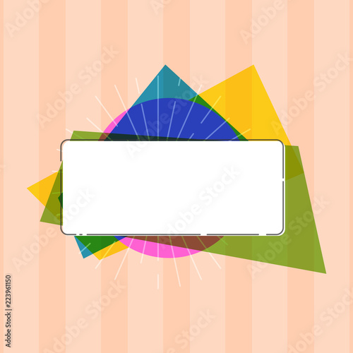 Fotografering  Flat design business Vector Illustration concept Empty template copy space Posters coupons promotional material