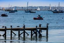 Poole Harbour And Sandbanks Dorset Uk