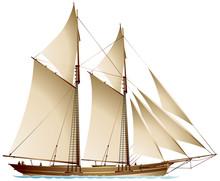 Schooner Sailing Vessel, A Tra...