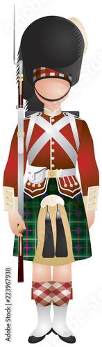 Fotomural Scottish Highland Infantry Regiment of the Line soldier