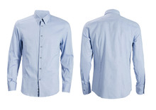 Blue Formal Shirt With Button ...