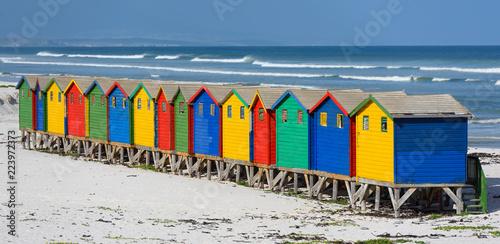 Muizenberg South Africa Rainbow Tapéta, Fotótapéta