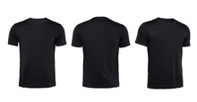 Black T-shirts Front ,back And...