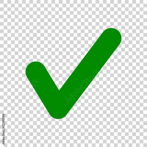 Fotografie, Obraz  Green Check Mark icon isolated on transparent background