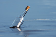 Message In A Bottle Floating O...