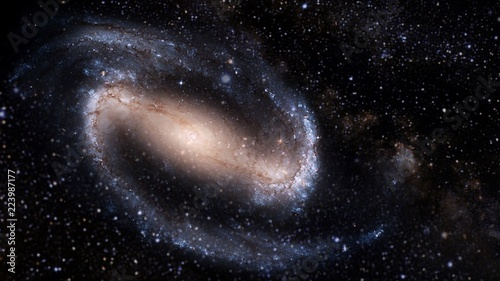Obraz Planets and galaxy, cosmos,  physical cosmology, science fiction wallpaper. Beauty of deep space. Billions of galaxies in the universe Cosmic art background - fototapety do salonu