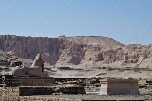 Staande foto Grijs Ramesses2 Ramesses3 Temple Remains