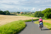 Groupp Of  Cycle Tourist On Th...