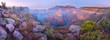 canvas print picture - Aerial of Blyde River Canyon Three Rondavels - South Africa