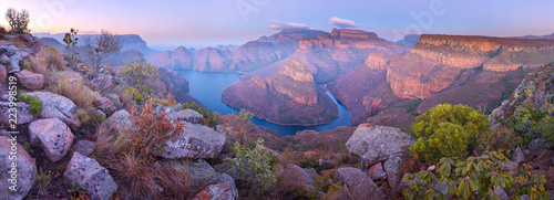Türaufkleber Afrika Aerial of Blyde River Canyon Three Rondavels - South Africa