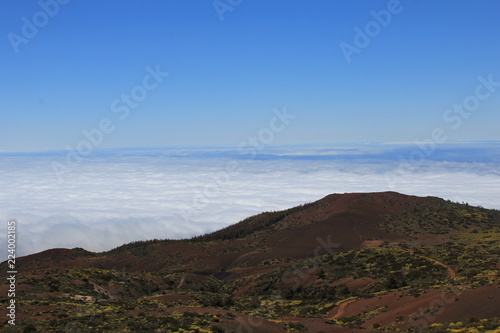 The view from volcano with Teide National park of Tenerife, Canary Islands, Spain