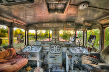 The Cab Of An Old Abandoned Lo...