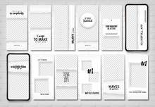 Social Stories Template. Editable Torn Paper Design. Lifestyle Concept.