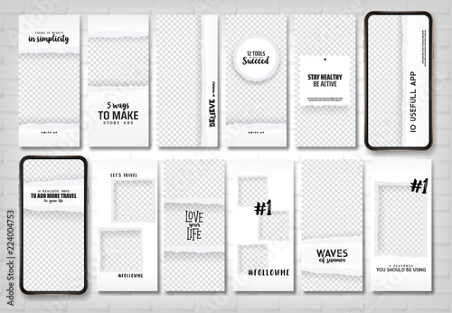 Social Stories Template Editable Torn Paper Design Lifestyle