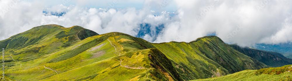 Fototapeta 初秋の山 山形県月山