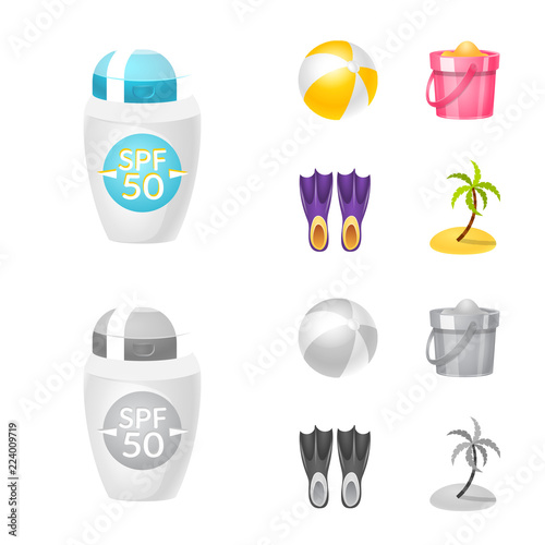 Photo  Vector design of equipment and swimming icon
