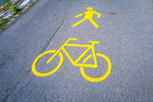 Swiss Yellow Road Marking In T...