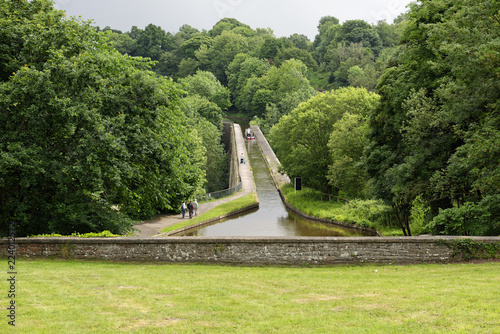 Recess Fitting Channel Overlook of the Chirk Aqueduct, which carries the Llangollen Canal across the Ceiriog Valley near Wrexham in northeast Wales, United Kingdom