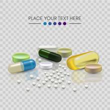Realistic 3d Pills. Pharmacy, ...