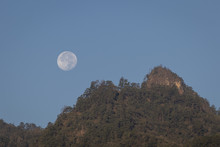 Full Moon Over Mountains In No...