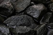 Rough Wet Granite Stones