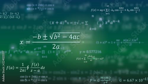 Photo Mathematical formulas
