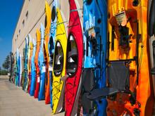 Colorful Fiberglass Kayaks On ...