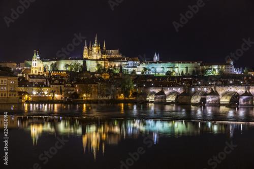 Staande foto Praag Night panorama of Prague, Czech Republic