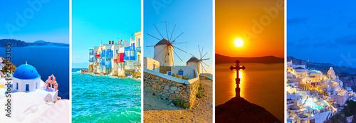 Fotografie, Obraz  Landscapes of Santorini and Mykonos