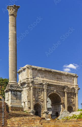 Foto op Aluminium Oude gebouw Forum Romanum from Capitol Hill