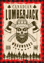 Lumberjack Vector Poster With ...