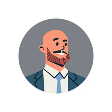 Bald Head Businessman Avatar M...