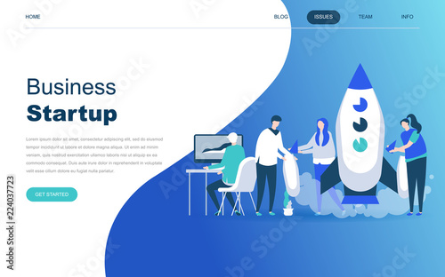 Photo  Modern flat design concept of Startup Your Project for website and mobile website development