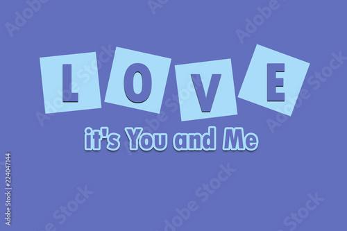Fotografia  Love it's you and me