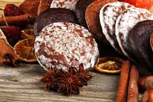Typical German Gingerbreads Such As Lebkuchen And Aachener Printen