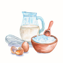 Watercolor Still Life With Ing...