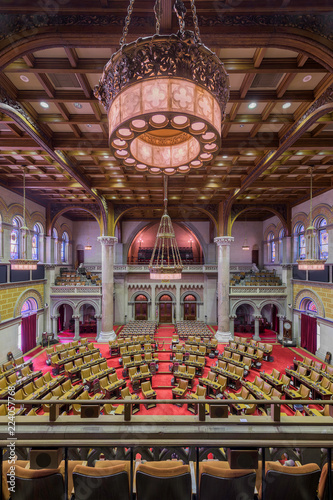 Fotografie, Tablou  House of Assembly chamber from the balcony inside the New York State Capitol bui