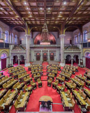 House Of Assembly Chamber From The Balcony Inside The New York State Capitol Building In Albany