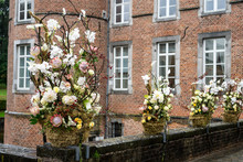 Autumn Floral Arrangement At Alden Biesen Castle, Hasselt, Belgium