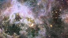 Tarantula Nebula Star Field Also Know 30 Doradus Rotating Cluster Burst Flare Light. Contains Public Domain Image By NASA