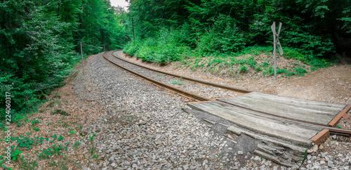 Bahngleise 2018-11   Bahnstrecke im bayerischen Wald nahe der Steinklamm Spiegelau.