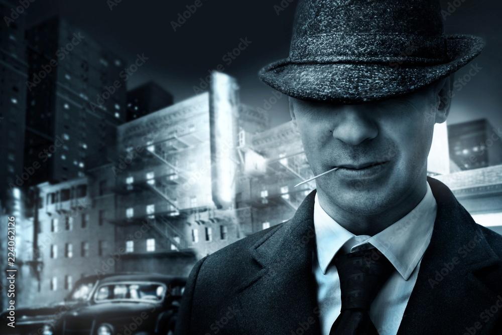 Fototapeta vintage american mafia gangster