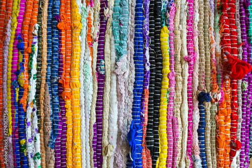 brazil textiles background of bright rugs Fototapeta